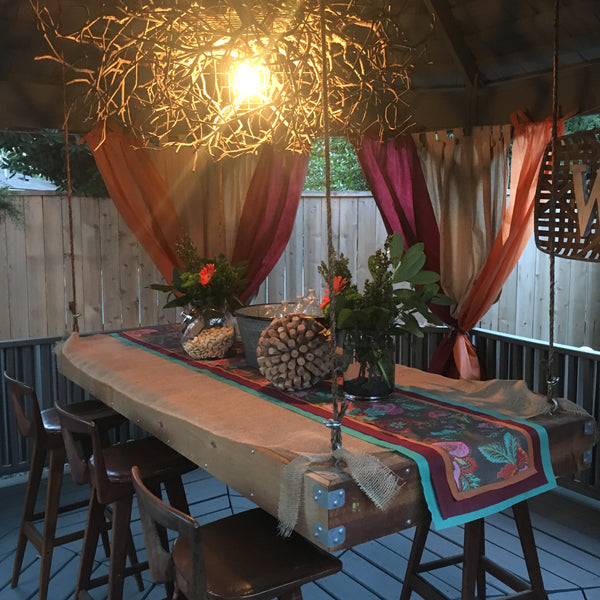 How to Make a Hanging Pallet Table