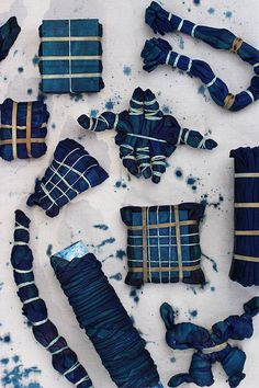DIY Shibori Batting Pillows
