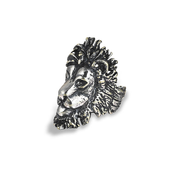 Elassaad Lion Head Ring