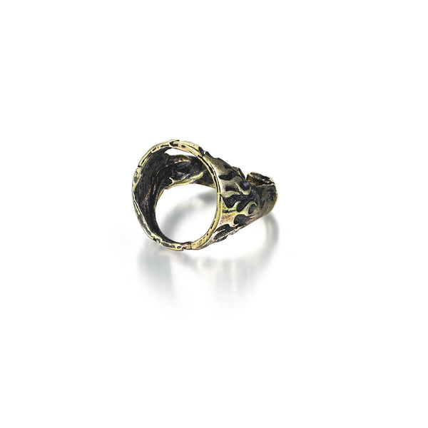 Hollow Flames Signet Ring