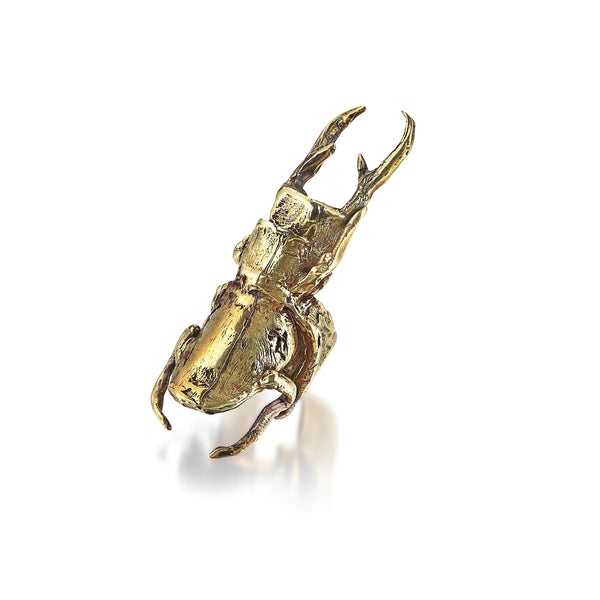 Don't Bug Me Scarab Ring