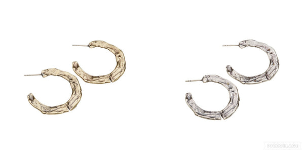 Raw Midi Hoop Earrings