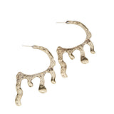 Melted Hoop Earrings