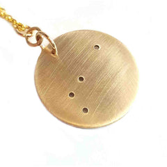 14K Solid Gold Zodiac Necklace