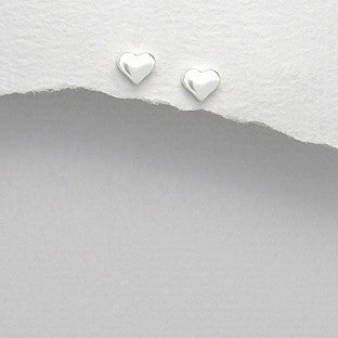Sterling Silver Heart Earrings - Haggled Jewellery - 1