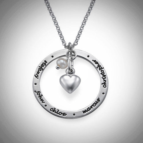 Silver Mothers Circle Necklace