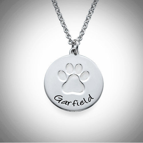 Silver Paw Print Necklace