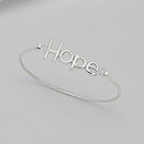 Sterling Silver Hope Bangle - Haggled Jewellery - 1