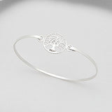Sterling Silver Tree of Life Bangle - Haggled Jewellery - 1