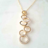 18K Bubble Czech Crystal Necklace