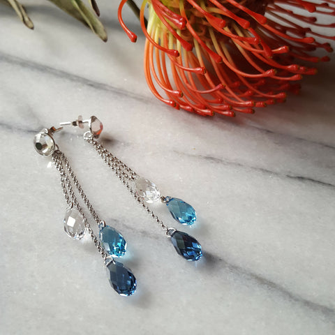 Blue Drops with Swarovski® Crystals