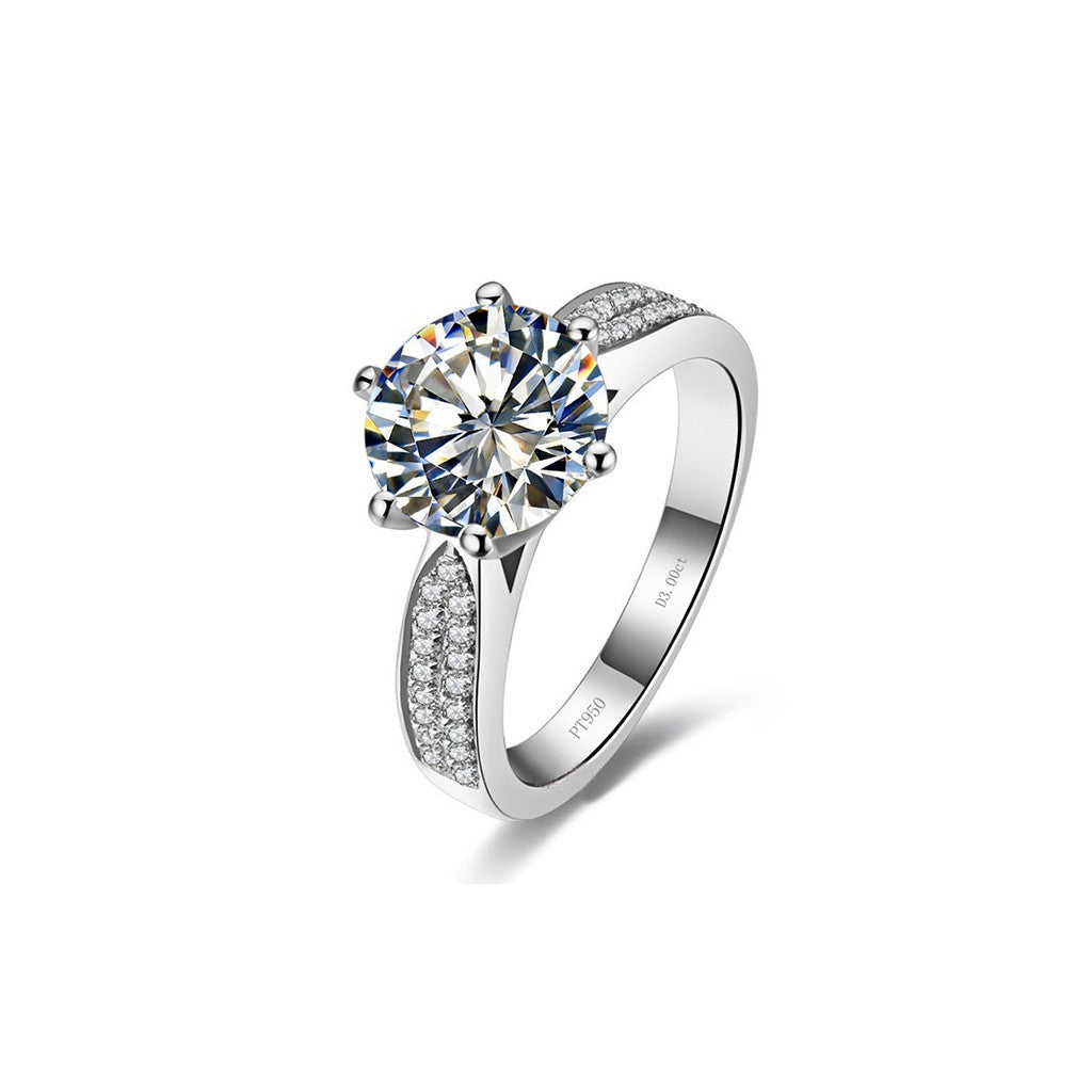 3ct Sona Swiss Diamond Ring - Haggled Jewellery - 1