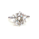 4ct Solitaire Swiss Diamond Ring