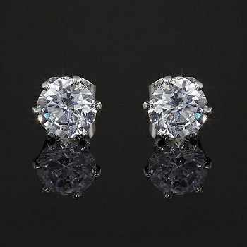 7mm CZ Studs - Haggled Jewellery - 1