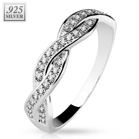 Infinite Entwined CZ Silver Ring