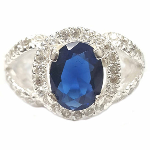 Lavish Blue CZ Ring