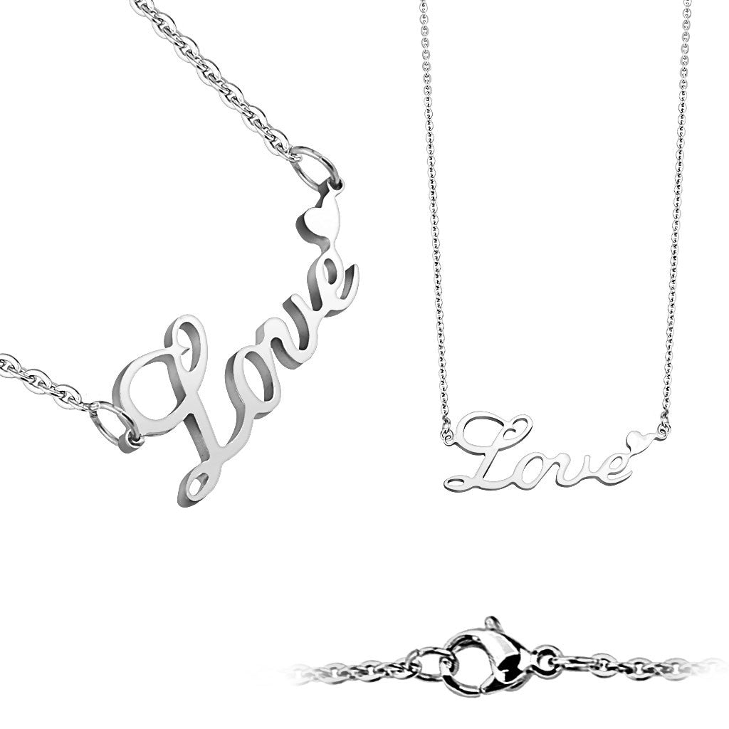 Love Letters Stainless Steel Necklace