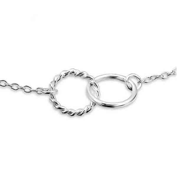 Silver Entwined Circles Bracelet