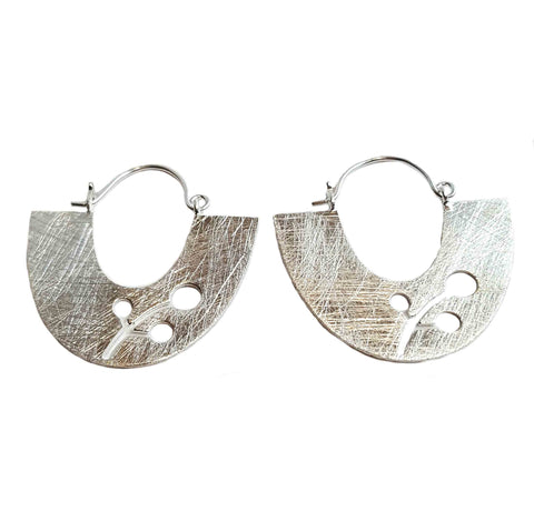 Blossom Cutout Silver Earrings