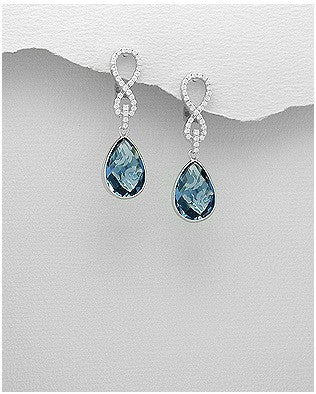 Blue CZ Infinity Dangle - Haggled Jewellery