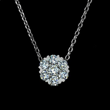 Cluster CZ necklace - Haggled Jewellery - 1