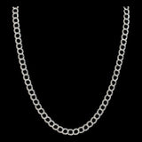 Sterling Silver Curb Necklace - Haggled Jewellery - 2