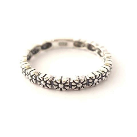 Flower Power Silver Ring