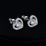 0.5ct Swiss Diamond Heart Earrings - Haggled Jewellery - 2