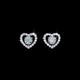0.5ct Swiss Diamond Heart Earrings - Haggled Jewellery - 1