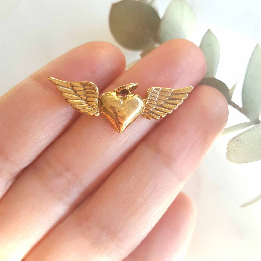 Bronze Heart With Wings