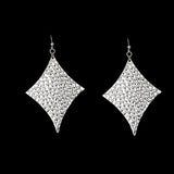 Sterling Silver Hammered Dangle Earrings - Haggled Jewellery - 2