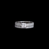 Petite Princess Cut Ring Set - Haggled Jewellery - 2