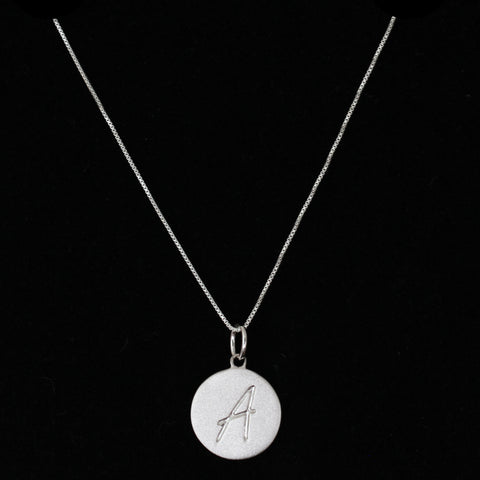 A Initial Pendant Necklace - Haggled Jewellery - 1