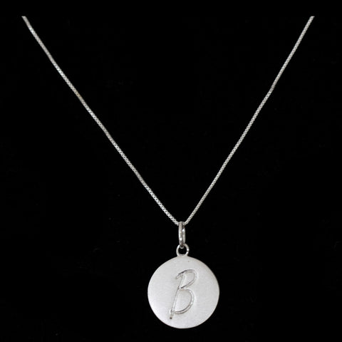 B Initial Pendant Necklace - Haggled Jewellery - 1