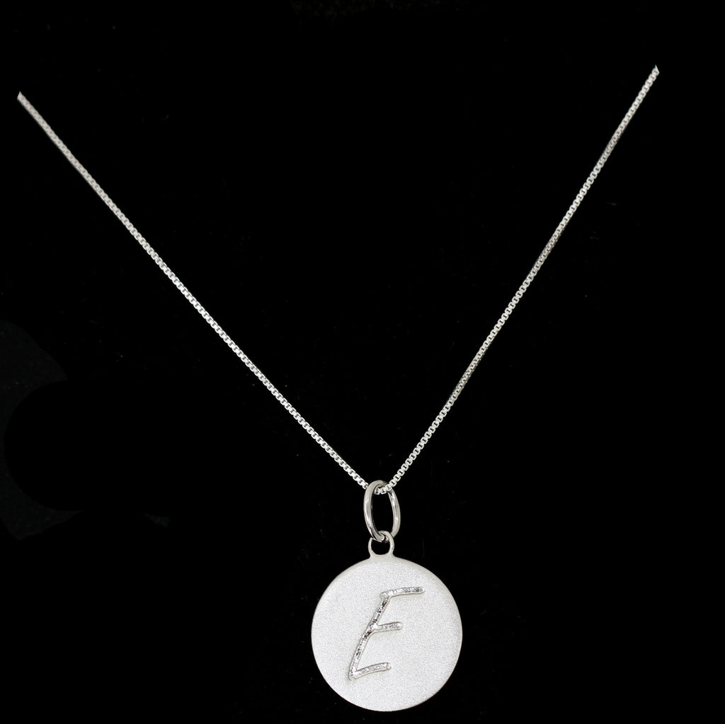E Initial Pendant Necklace - Haggled Jewellery - 1