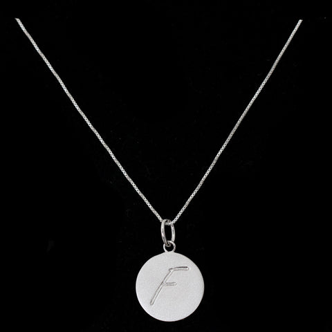 F Initial Pendant Necklace - Haggled Jewellery - 1