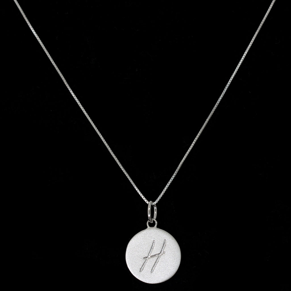 H Initial Pendant Necklace - Haggled Jewellery - 1