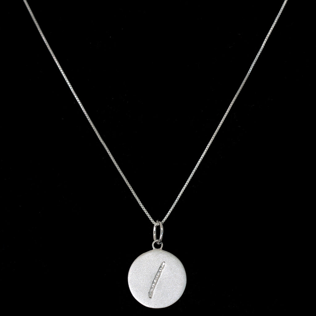 I Initial Pendant Necklace - Haggled Jewellery - 1