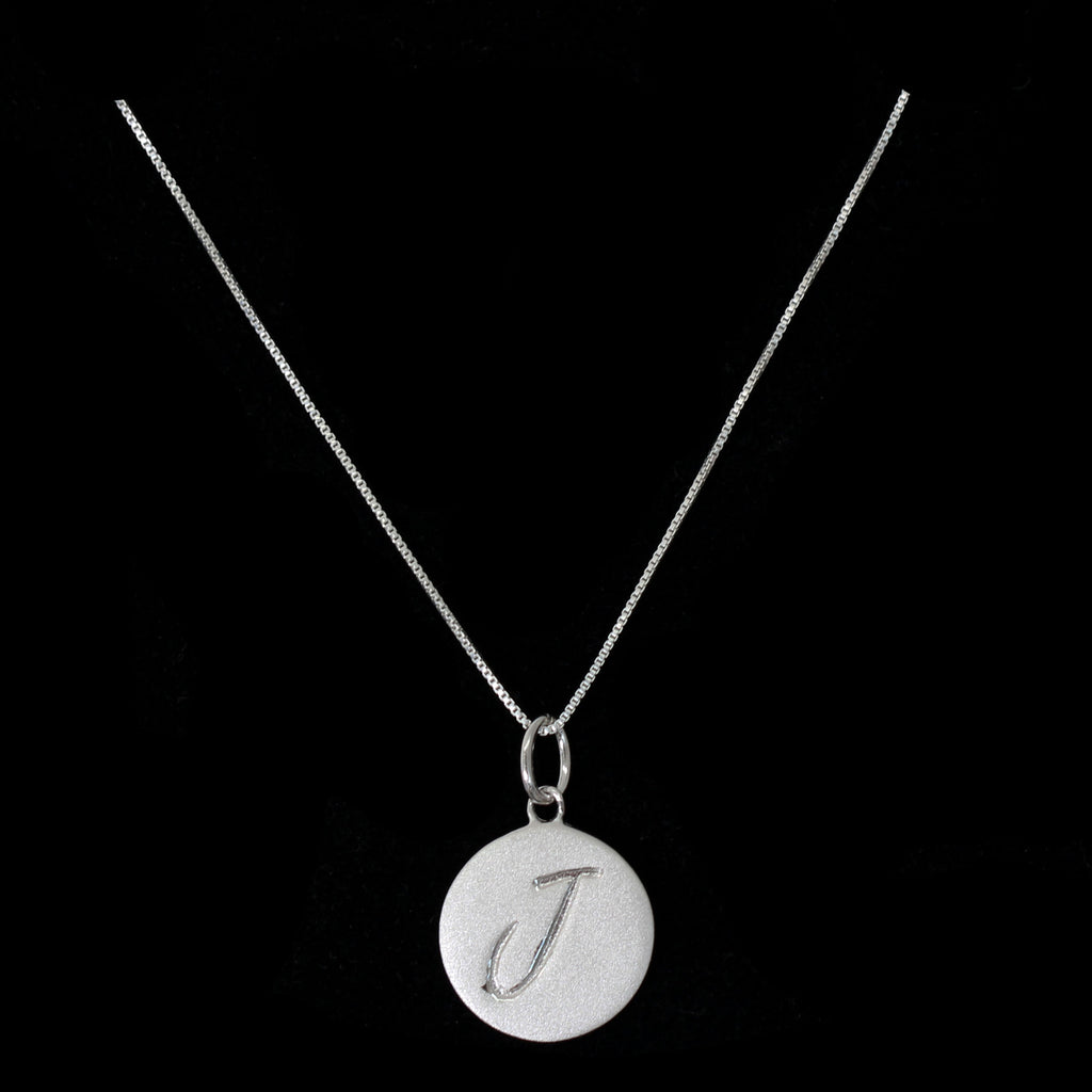 J Initial Pendant Necklace - Haggled Jewellery