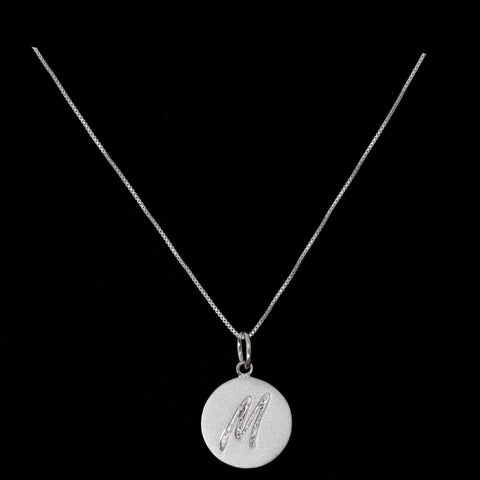 M Initial Pendant Necklace - Haggled Jewellery - 1