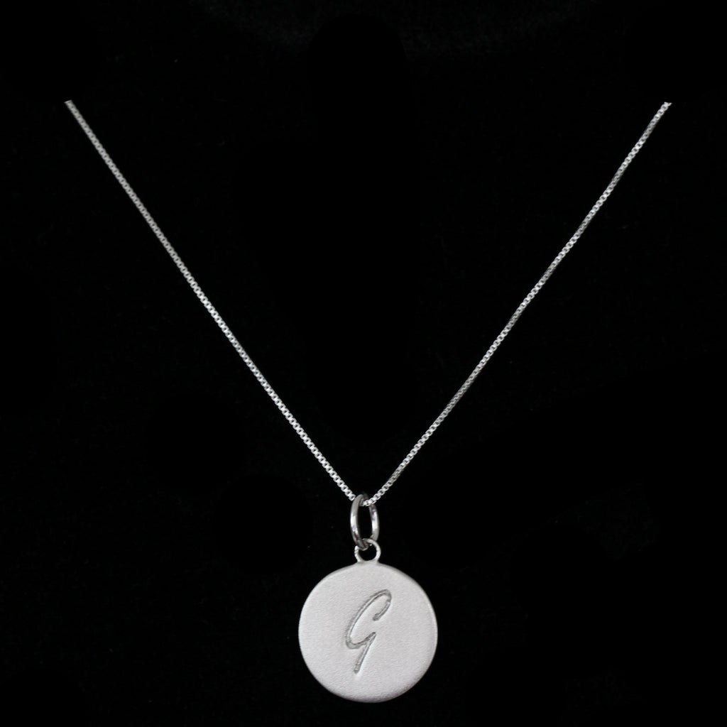 G Initial Pendant Necklace - Haggled Jewellery - 1