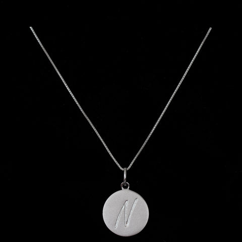 N Initial Pendant Necklace - Haggled Jewellery - 1