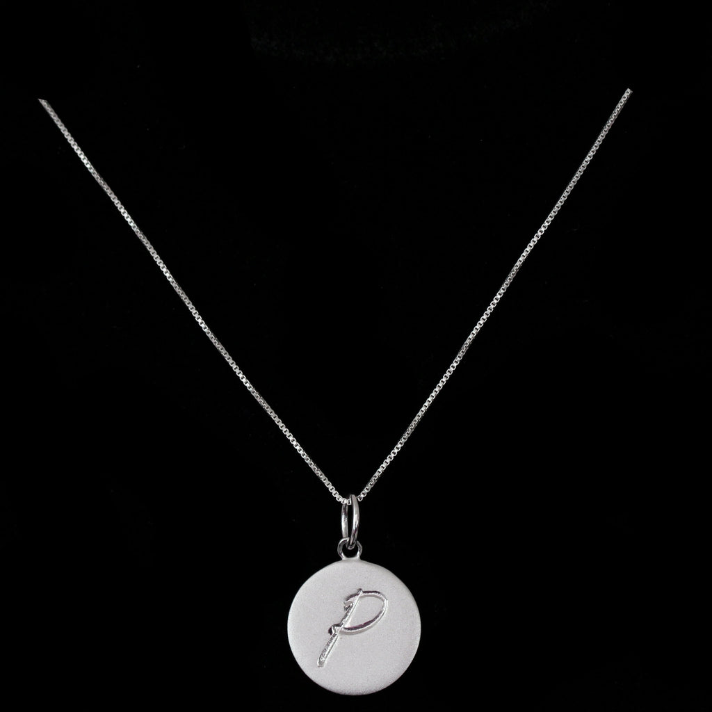 P Initial Pendant Necklace - Haggled Jewellery - 1