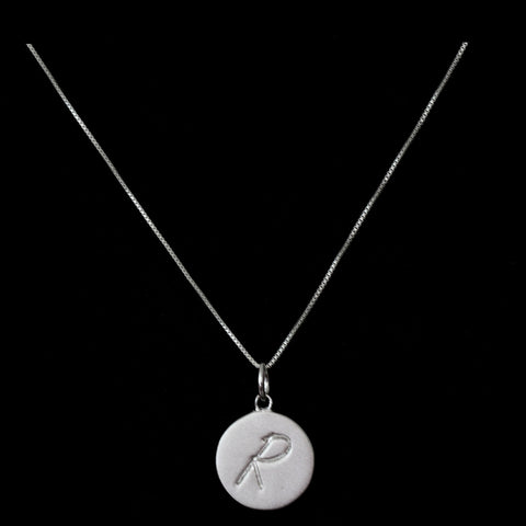 R Initial Pendant Necklace - Haggled Jewellery - 1
