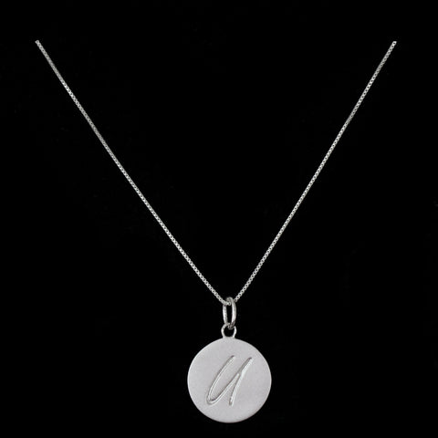 U Initial Pendant Necklace - Haggled Jewellery - 1