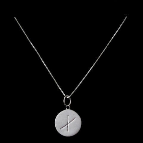 X Initial Pendant Necklace - Haggled Jewellery - 1