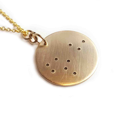 14K Gold Zodiac Necklace - Leo