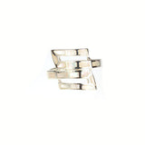 Silver Mother of Pearl 'S' Shaped Ring - Haggled Jewellery - 1