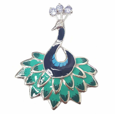 Flash Peacock Gemstone Pendant