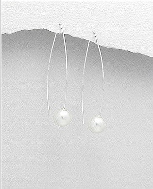 Pearl Dangle Earrings - Haggled Jewellery